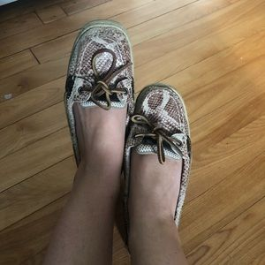 Sperry Angelfish Snakeskin Boat Shoes! Size 6.5